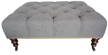 Morgan Diamond Tufted Ottoman by Bella Furniture Home