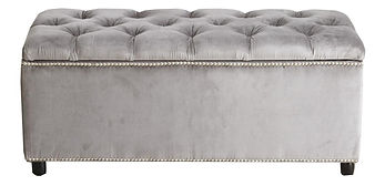 Aria Diamond Tufted Ottoman by Bella Furniture Home