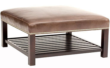 Nora Table Ottoman with Wood Slats