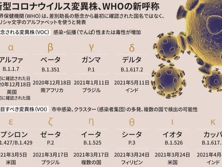 2021年6月末の臨時ブログ 日本人はデルタ株にかかりやすい!