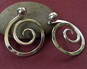 Front Clutch Spiral Earrings