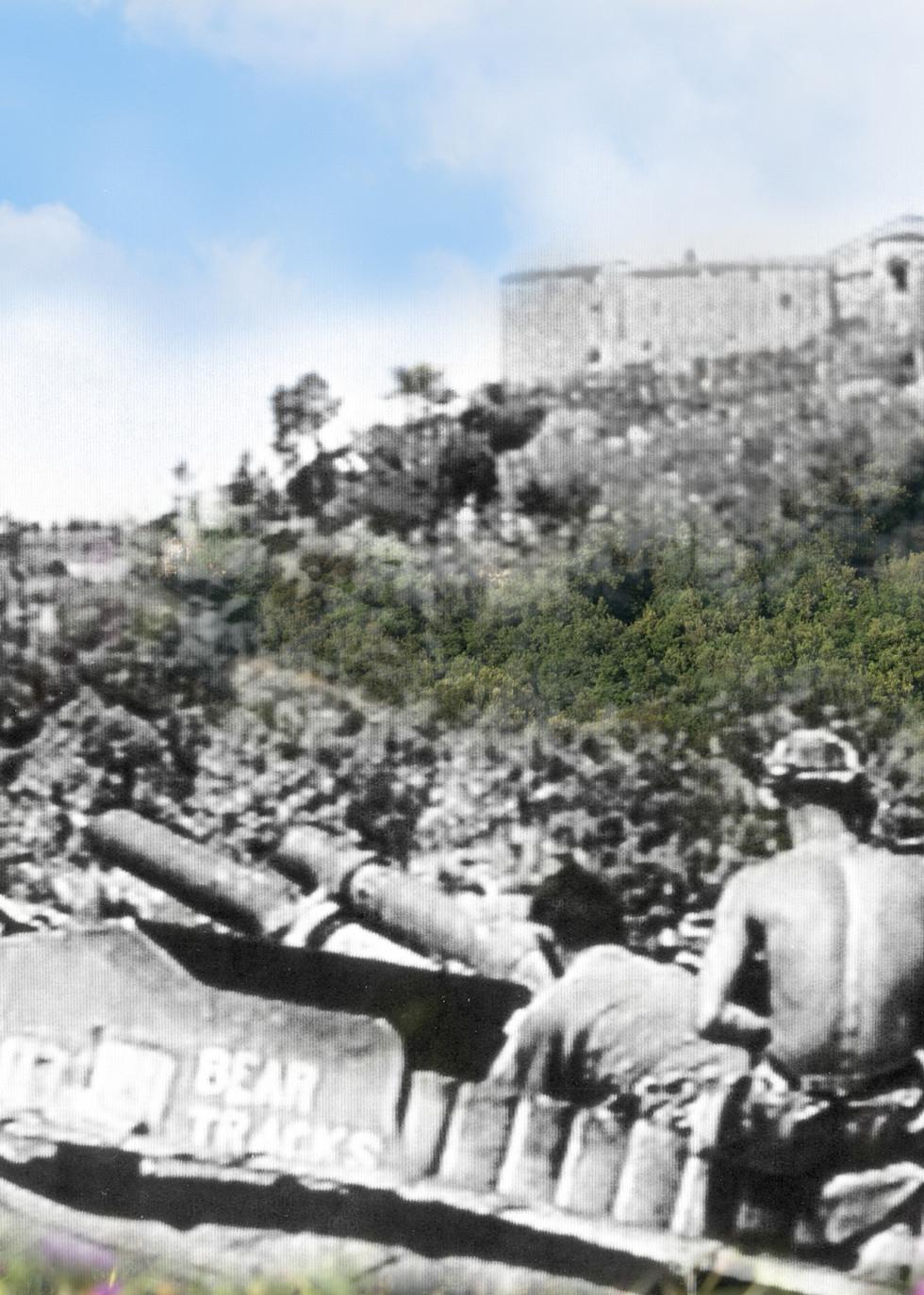 Cannoni dietro Mensano in direzione Casole d'Elsa