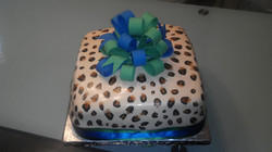 Custom Leopard Cake