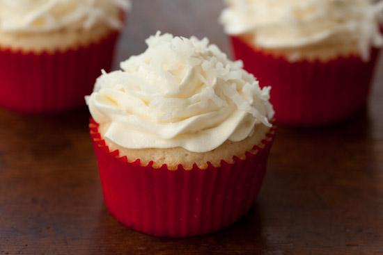 White Coconut Cupcake