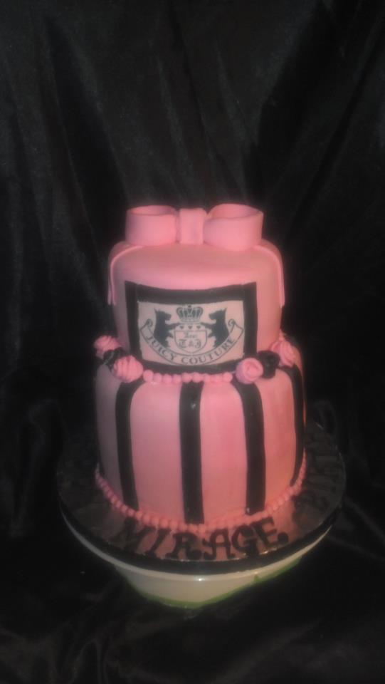 Custom Juicy Couture Cake
