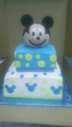 Custom Mickey Mouse Birthday Cake