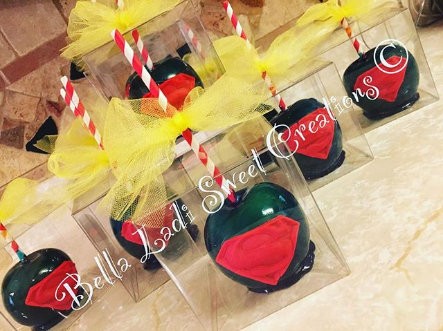 Superhero Candy Apples