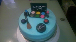 Custom M.A.C Birthday Cake