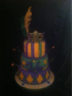 Custom Mardi Gras Cake