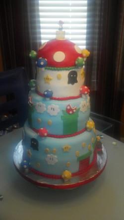 Super Mario Bros Custom Cake