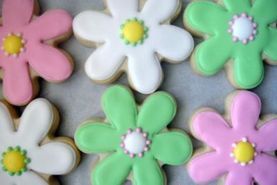 Custom Flower Cookies