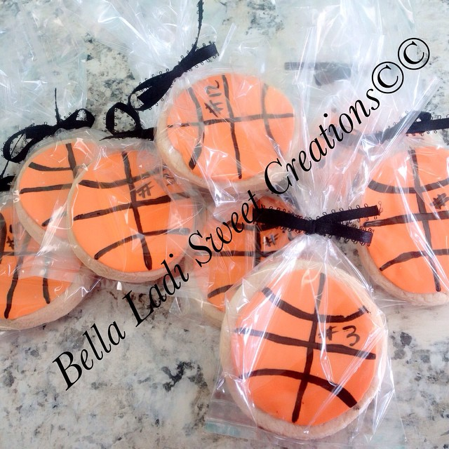 Basketball sugar cookies