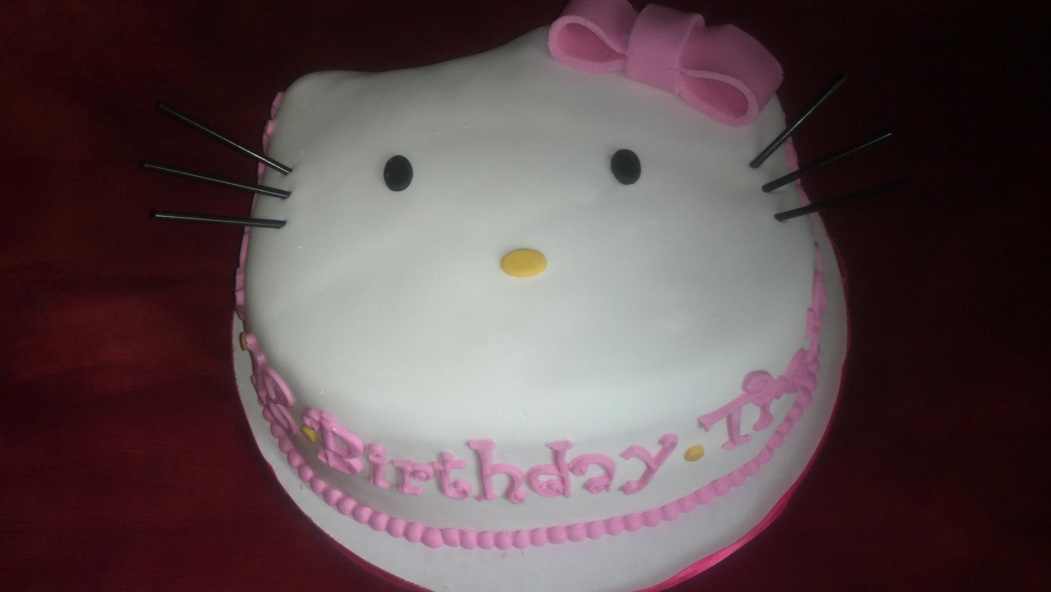 Custom Hello Kitti Birthday Cake