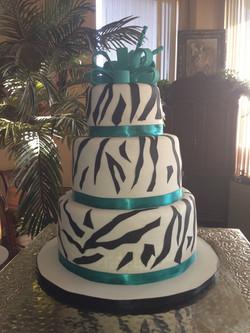 3 Tier Zebra Cake