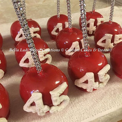 Red Cotton Candy Apples