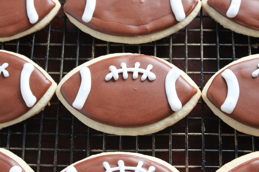 Custom Football Cookies