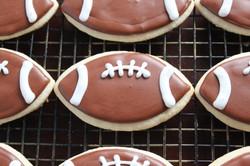 Custom Football Cookies