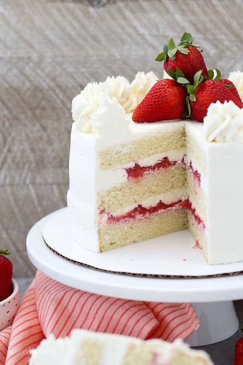 Strawberry Cake 8in