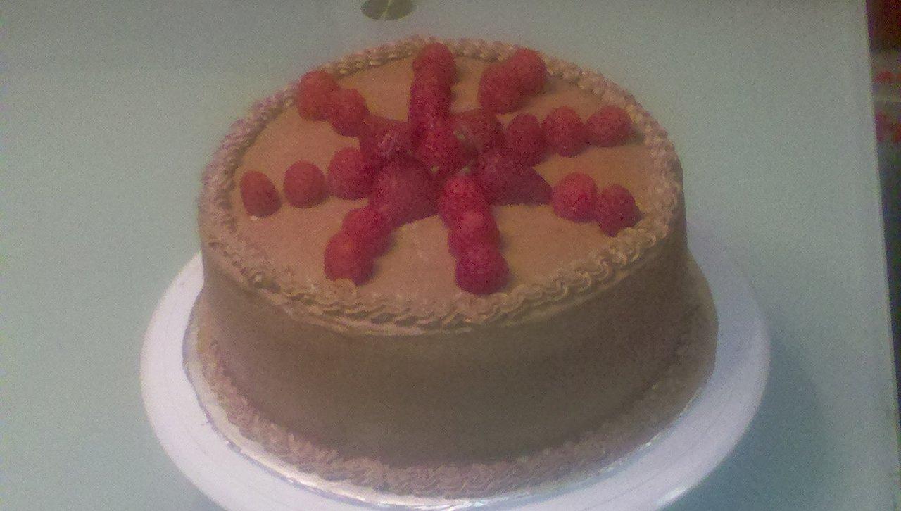 Custom Chocolate Raspberry Cake