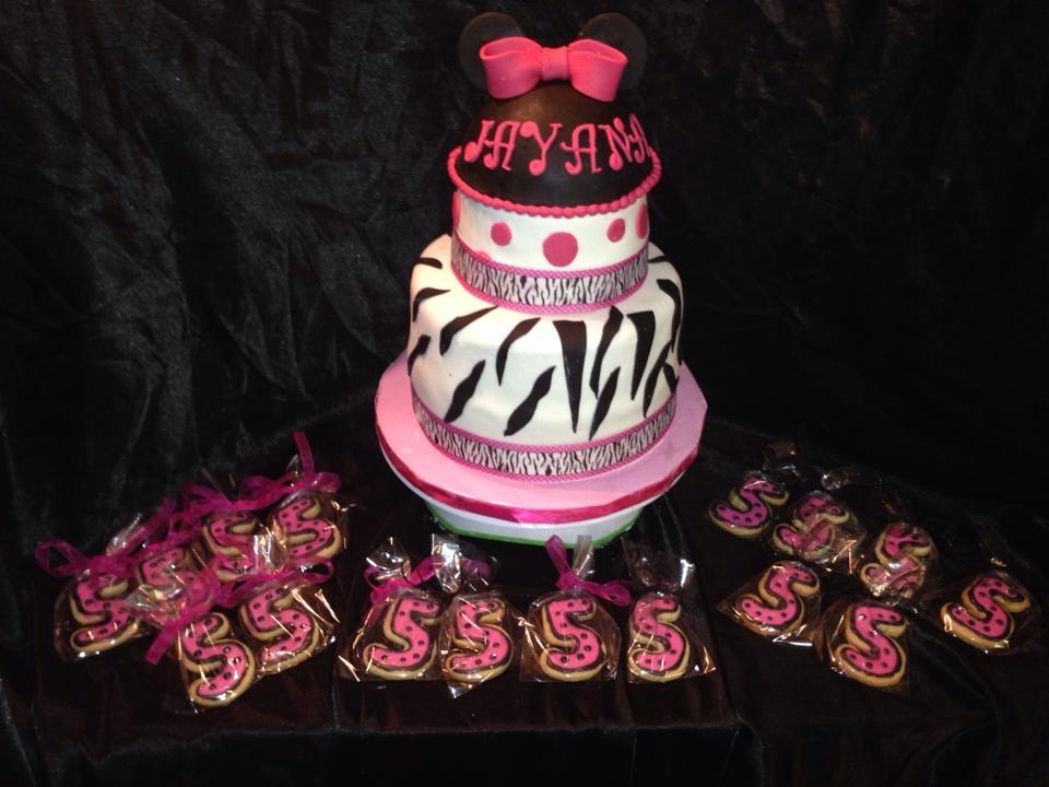 Zebra Minnie Cake