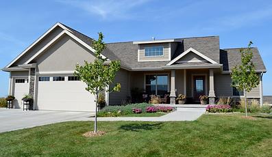 Beautiful custom Berkey Home Builders built exterior in Altoona