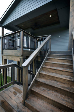 Rear Covered Deck Stair Detail