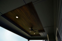 Rear Covered Deck Cedar Detail