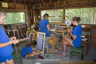 Camp Arcadia Maine Weaving