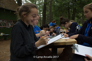Camp Arcadia Maine Arts & Crafts