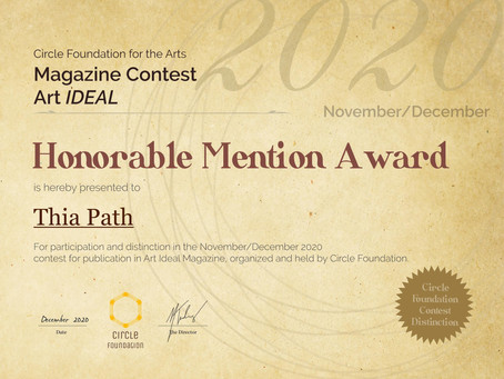 Honorable Mention Award from the Circle Foundation for the Arts