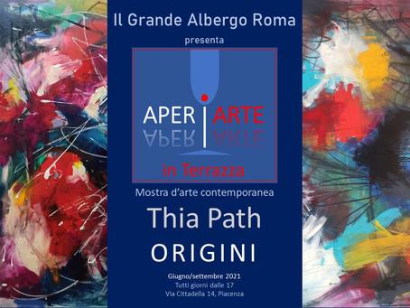 Mostra personale di Thia Path - Grande Albergo Roma - Aperiarte in terrazza