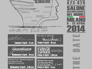 Programma eventi stand RIVA1920 presso il SALONE INTERNAZIONALE DEL MOBILE