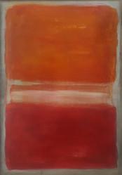 Arancione bianco e rosso su grigio