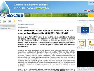 KYOTO CLUB patrocina il progetto SMARTh FUrniTURE