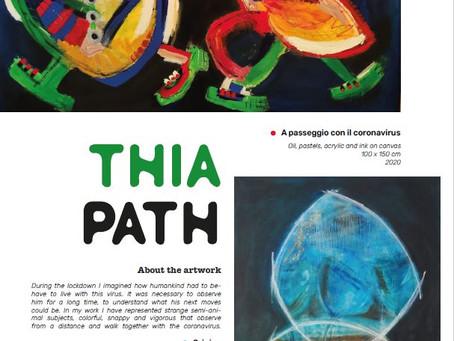 Thia Path in Francia, una intervista sul numero di Marzo della rivista C de l'Art, a voi la lettura!