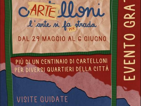Thia Path partecipa con le sue opere all'evento di street art cARTElloni! Vi aspetto in Via Damiani!