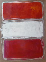 Rosso bianco su rosso grigio