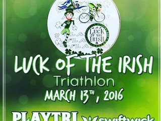 Luck of the Irish Triathlon is SUNDAY! March 13th - Not too late to register...
