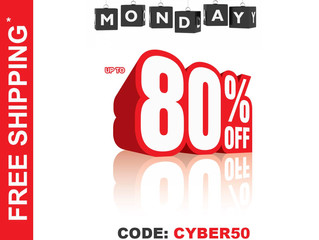 Cyber Monday Sale! 50% to 80% OFF!!