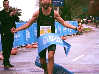 Congrats to DFW's own Logan Sherman Winner of the 2015 Dallas Marathon!