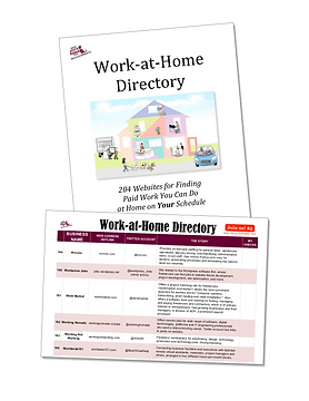 WORK-AT-HOME SAMPLE PAGE WITH CARTOON-2s