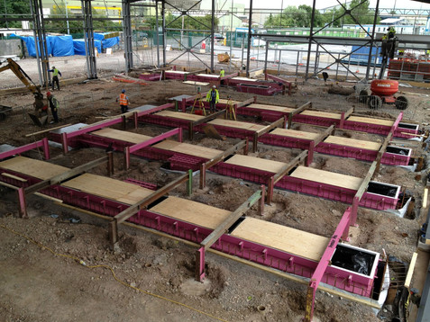 Levelling inspection pits