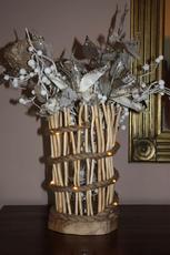 Lichtgevende vaas van drijfhout (op bestelling) - 45,00 €