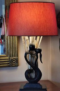 "Liefhebberslamp ""in rood en zwart"" (Op bestelling)"