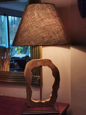 Design houten lamp