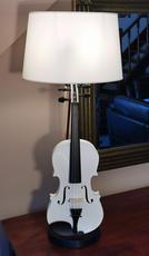 Lampe Violon blanc