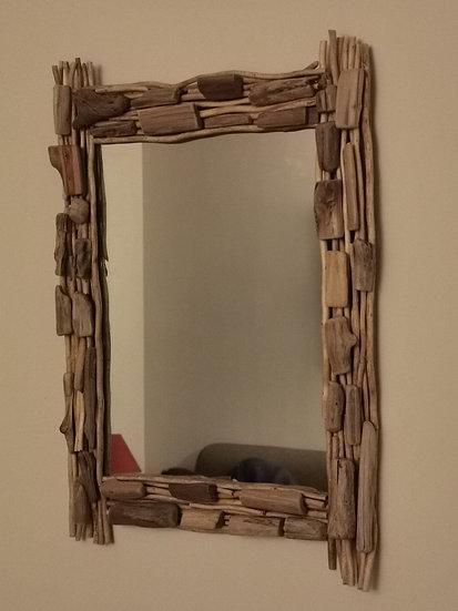 Rechthoekige spiegel van drijfhout (Op bestelling)