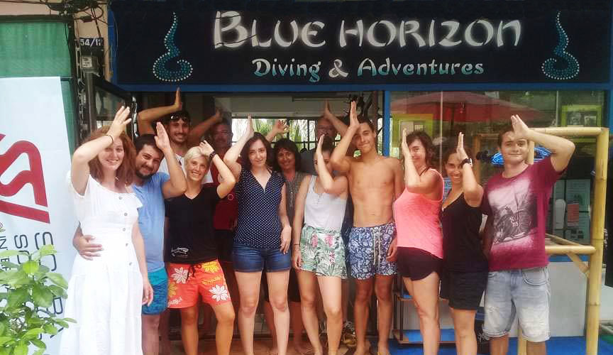 blue horizon diving