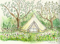 glamping Kent bell tent