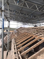 Calving Barn roof stripped